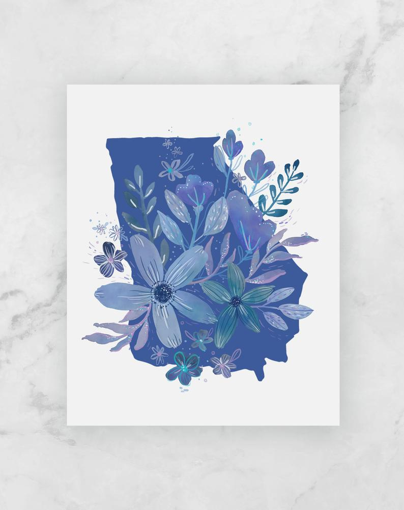 """Blue Georgia"" Limited Edition Print"