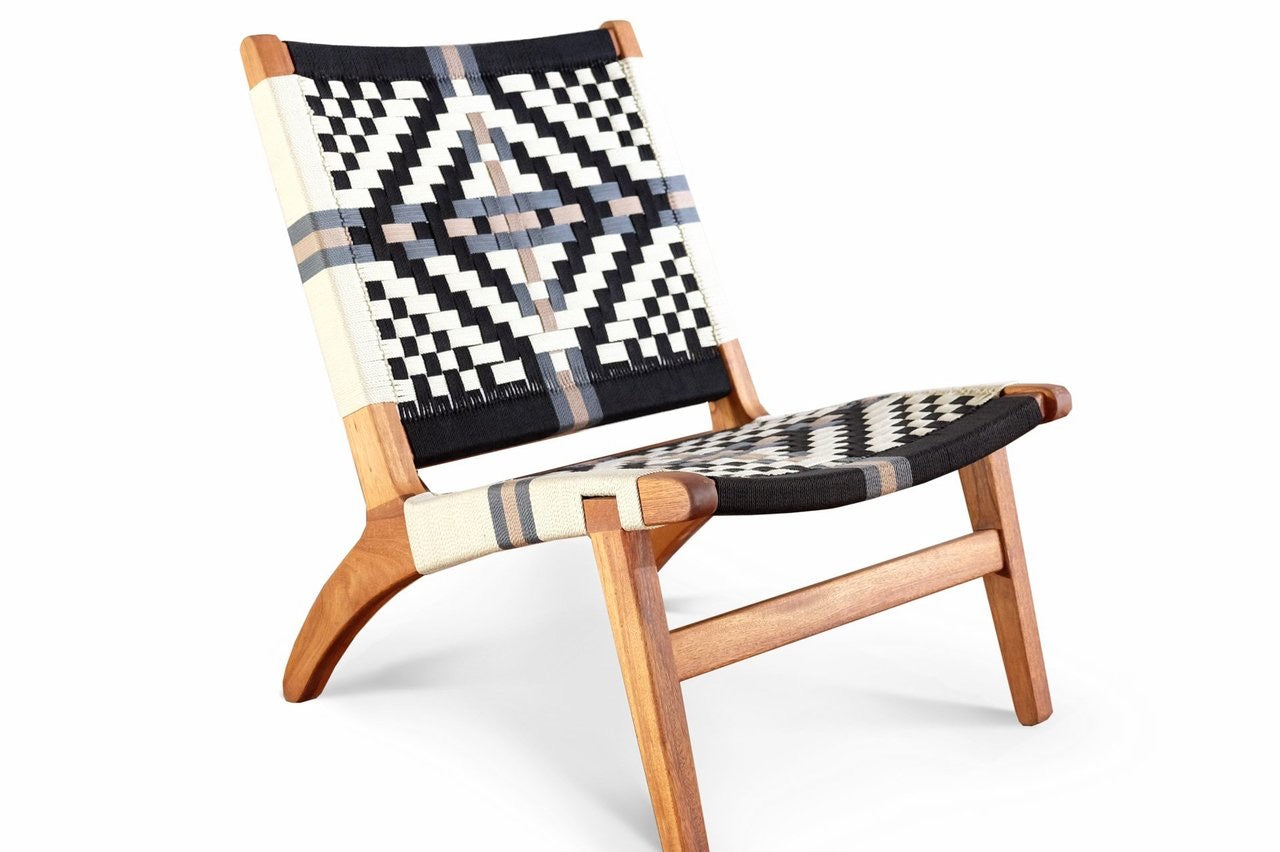Masaya Lounge Chair: Colonial Pattern