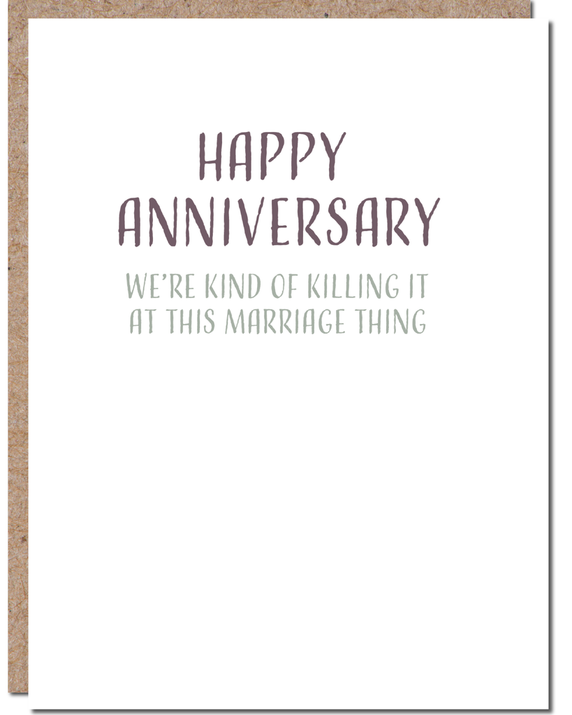 'Killing this Marriage' Greeting Card