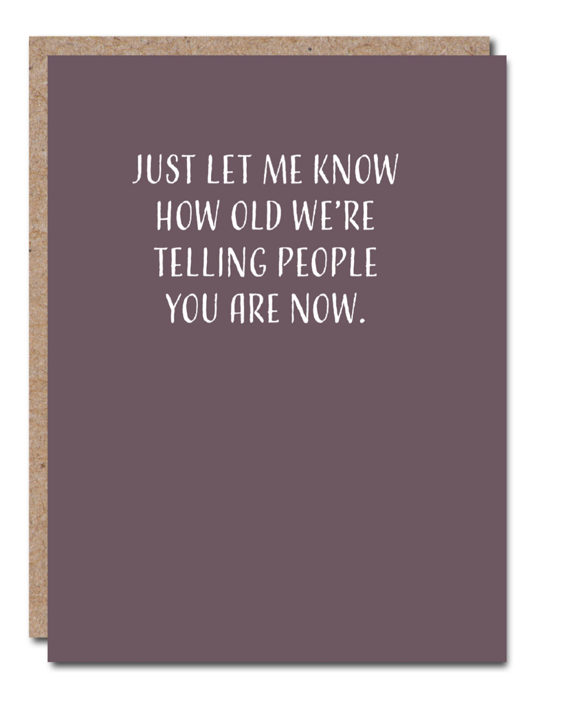 'Just Let Me Know' Greeting Card