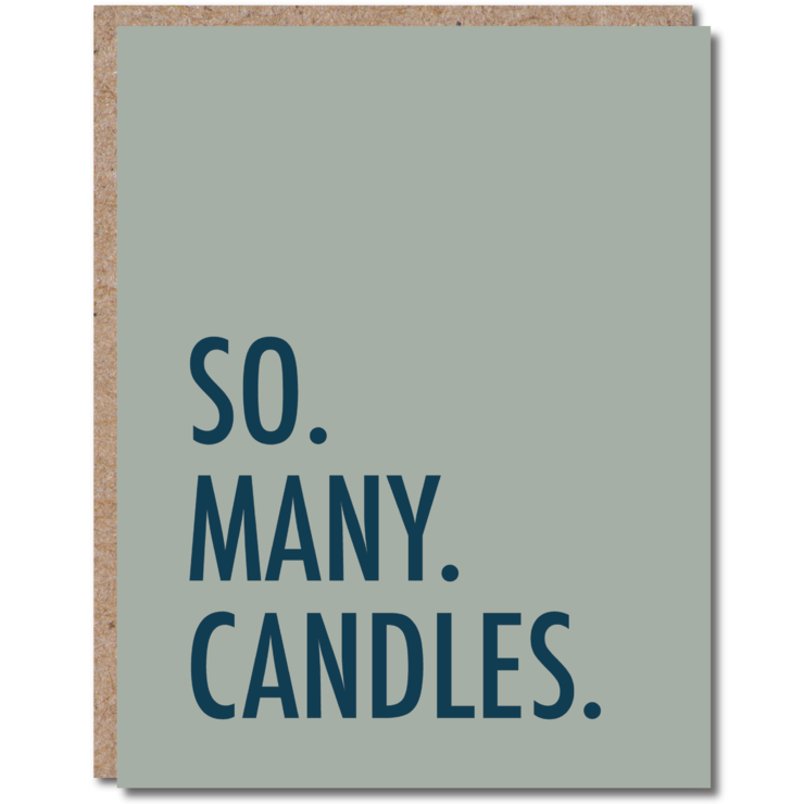 'So Many Candles' Greeting Card