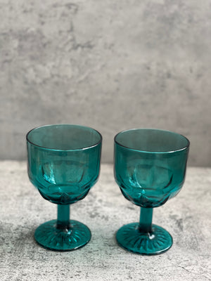 Teal Goblets- Set of Two