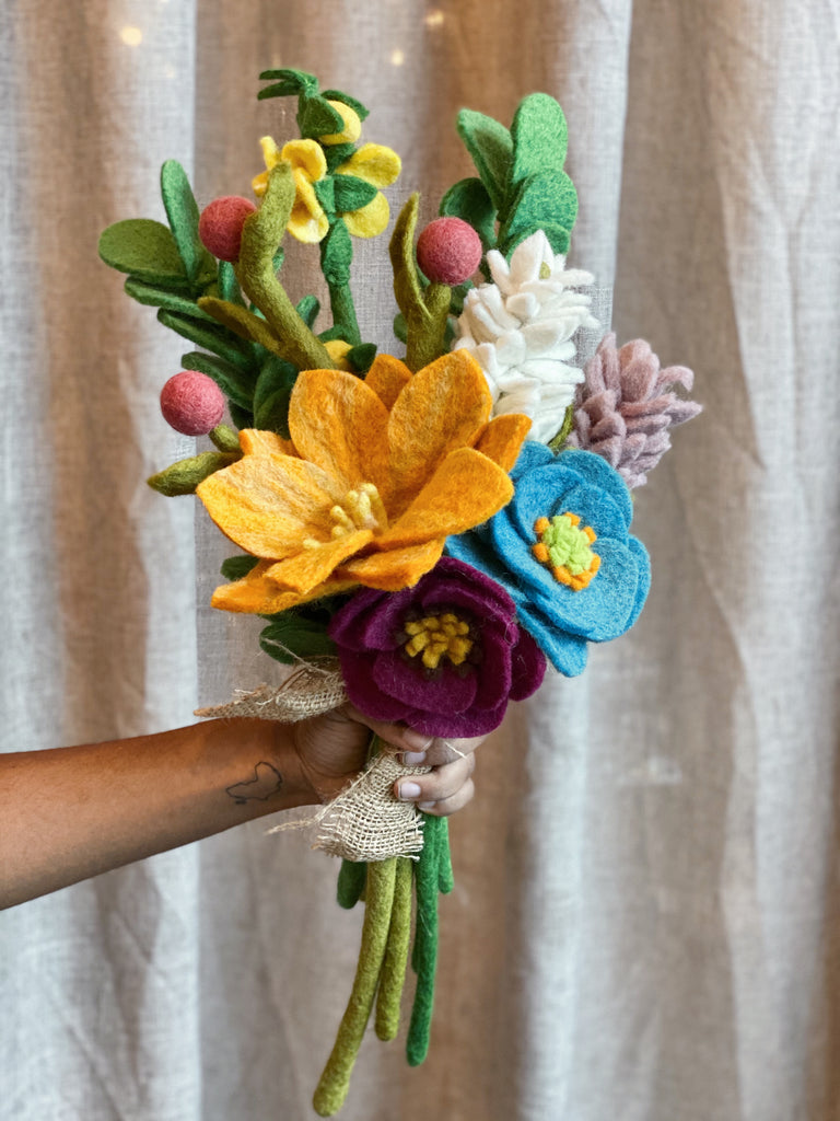Pre-Made Felt Flower Bouquet