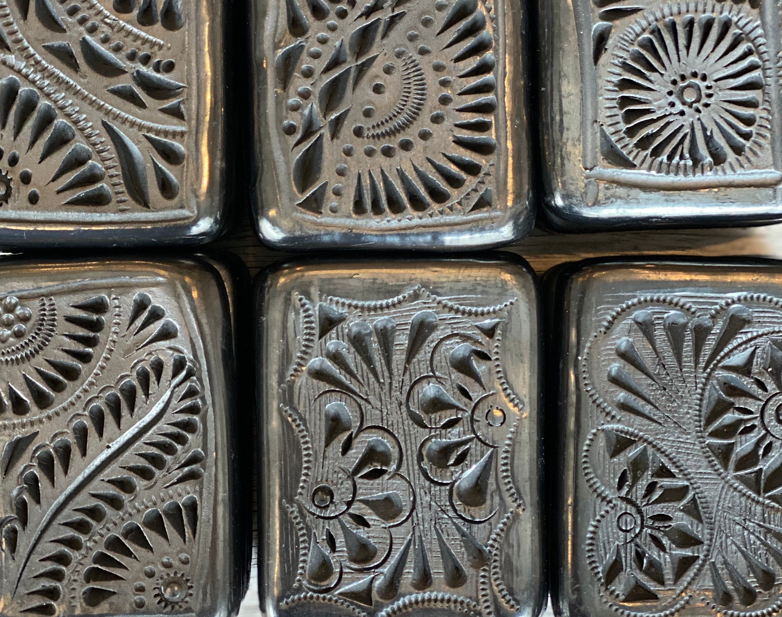 Mexican Black Clay Jewelry Boxes