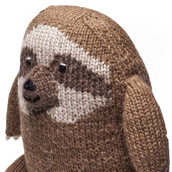Knit Alpaca Plush Sloth