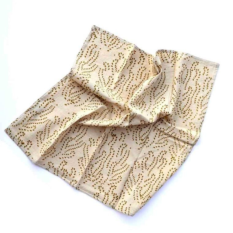 Ichcha - Gold Vines Dinner Napkins set of 4