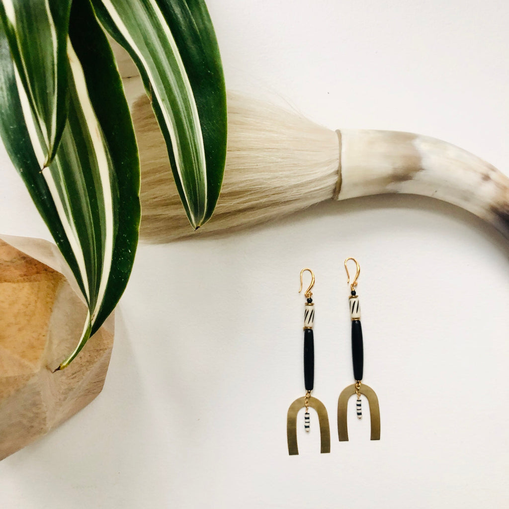 Societe Urbane: Togo Drop Earrings