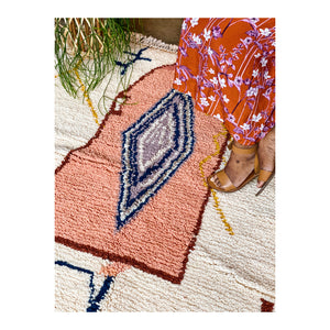 Pile Knot Rug - Pink Abstract