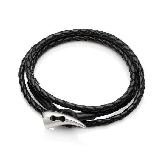 Faru Men's Leather Wrap Bracelet