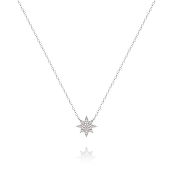 White Starburst Necklace