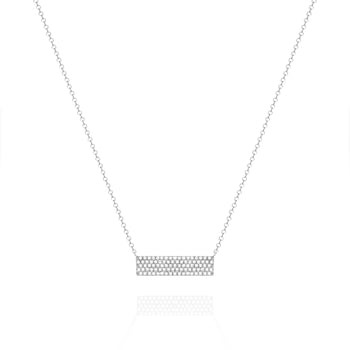 White Bar Necklace