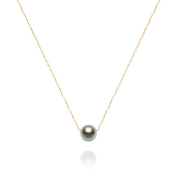 Solitaire Tahitian Grey Pearl Necklace