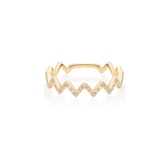 Zig-Zag Diamond Ring