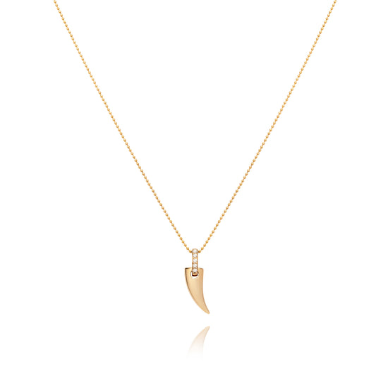 Faru Mini Gold Horn Pendant