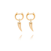 Faru Mini Gold Charm Earrings