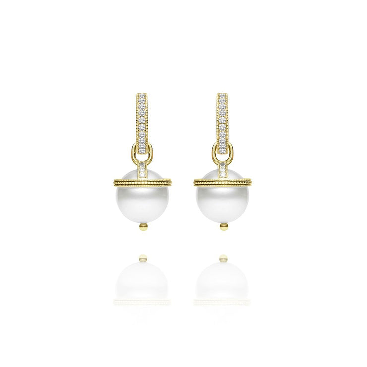 Signature Pearl Orb Charm Earrings