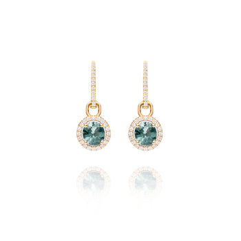 Blue Spinel Charm Earrings
