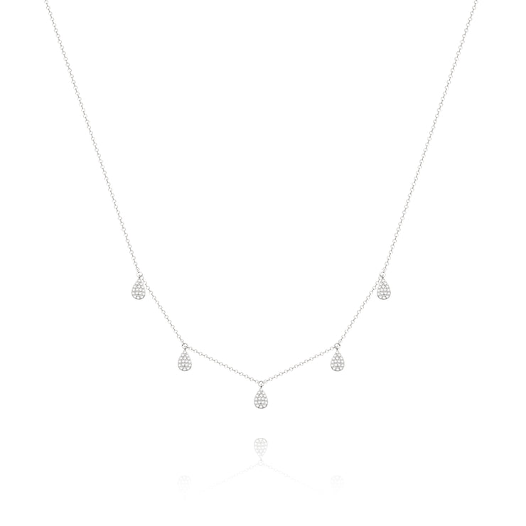 White Teardrop Necklace