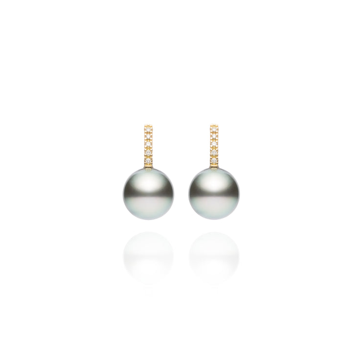 Signature Shepherd's Hook Tahitian Pearl Earrings