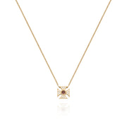 Signature Tourmaline Maltese Cross Necklace