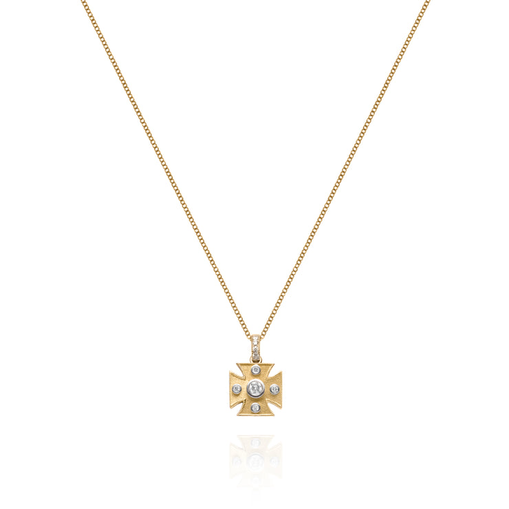 Signature Maltese Cross Charm Pendant