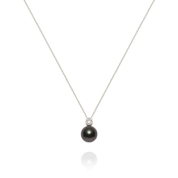 Diamond and Tahitian Pearl Pendant