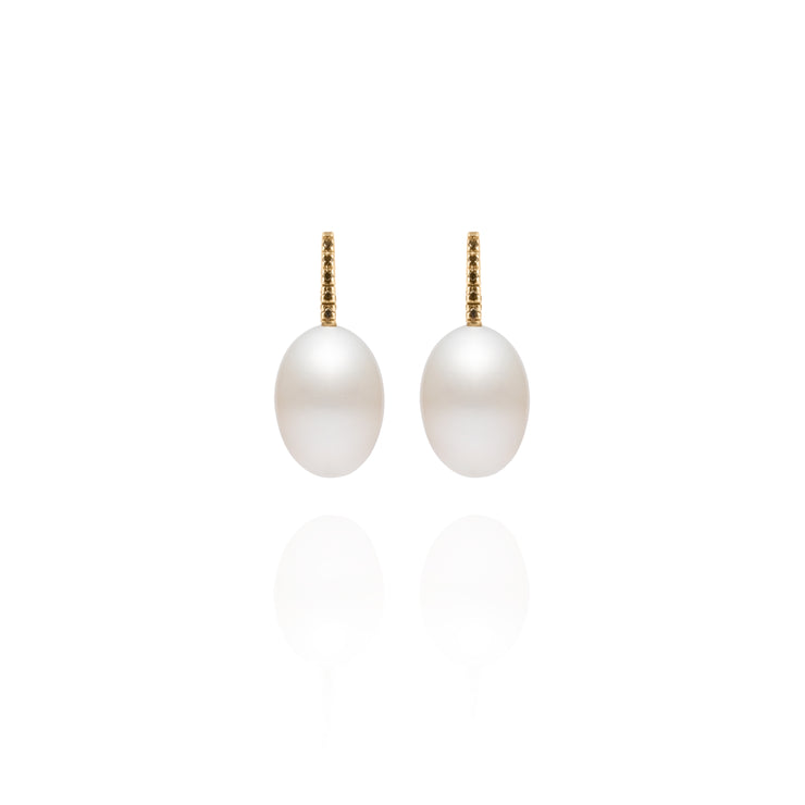 Signature Shepherd's Hook White Pearl Earrings