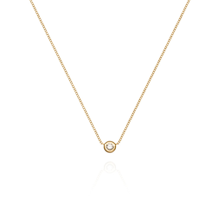 Yellow Solitaire Diamond Necklace