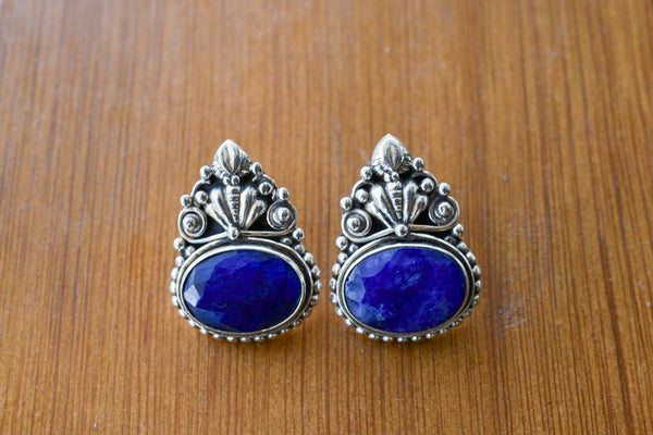 925 Silver Mughal-Style Mughal Earrings