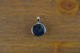925 Silver Decorated Round Labradorite Pendant