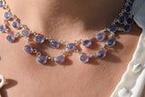925 Silver Adjustable Tanzanite Necklace