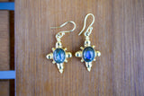 925 Gold-Plated Labradorite Indian-style Earrings