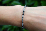 Quartz Tourmaline Beads Bracelet 3-4mm
