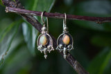 Copy of 925 Gold-Plated Silver Cultured Pearl Indian-style Earrings