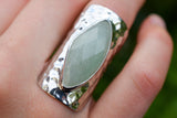 925 Silver Full Finger Aventurine Ring
