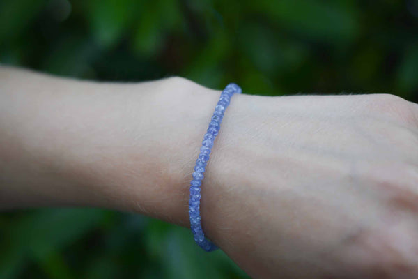 925 Silver Faceted Tanzanite Medium-Sized Bracelet
