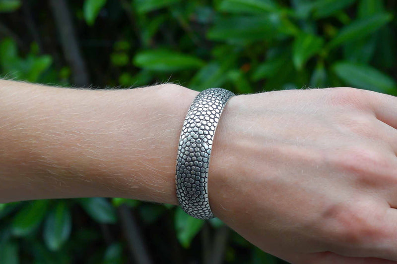 925 Silver Decorated Heavy Bracelet