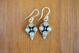 925 Silver Four Precious Opal Mughal-Style Earrings