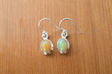 925 Silver Precious Opal Dangling Earrings