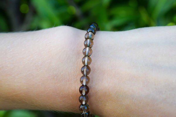 Smoky Quartz Beads Bracelet 6mm