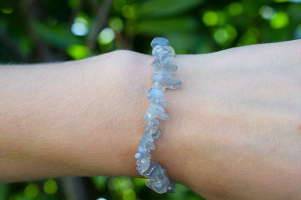 Labradorite Chips Bracelet 6mm