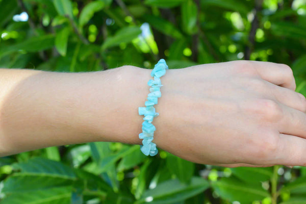 Amazonite Chips Bracelet 6mm