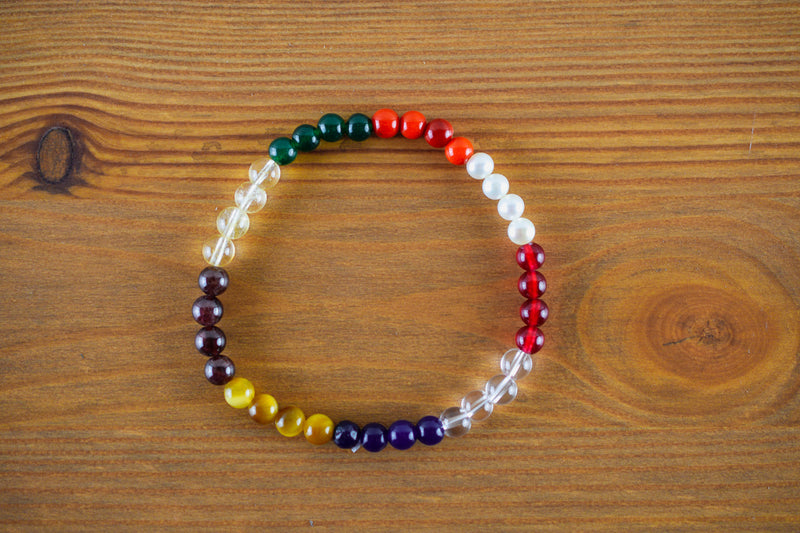 Navaratna Beads Bracelet 5-6mm