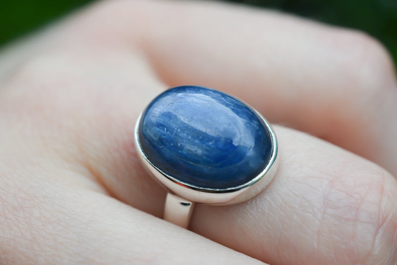 925 Silver Small Oval Kyanite Ring