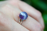 925 Silver Small Claw Amethyst Ring