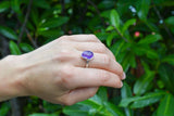 925 Silver Intertwined Amethyst Ring