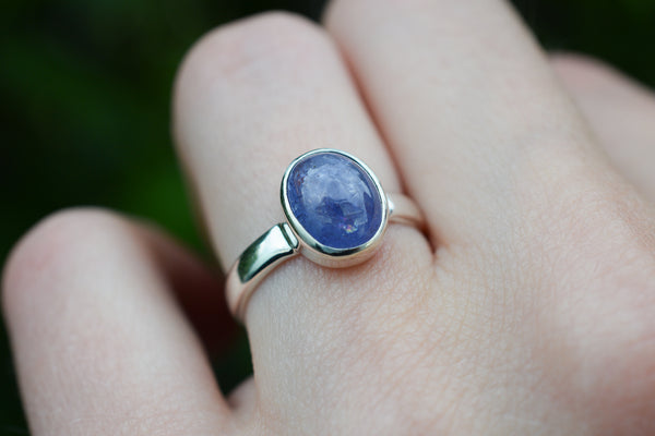 925 Silver Small Tanzanite Ring