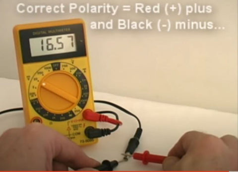 Testing a DC Power Supply PSU for the correct voltage