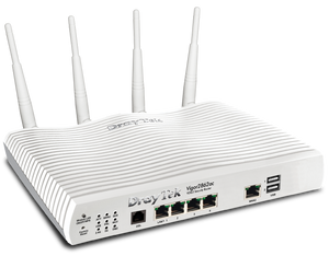 draytek vigor 2862ac vdsl router v2862ac front view Triple-WAN VDSL/ADSL 802.11ac 5GHz Wireless Router Firewall with 3G/4G LTE Support and VPN for Remote Offices and Mobile Staff