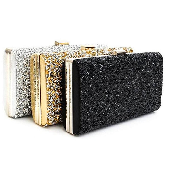 Gold Silver Black Party Handbag
